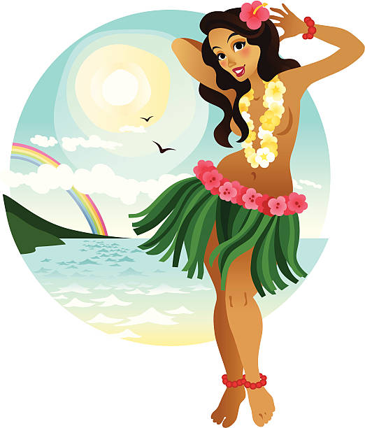 Clipart hula dancer banner freeuse library Collection of 14 free Dancer clipart luau aztec clipart vintage ... banner freeuse library