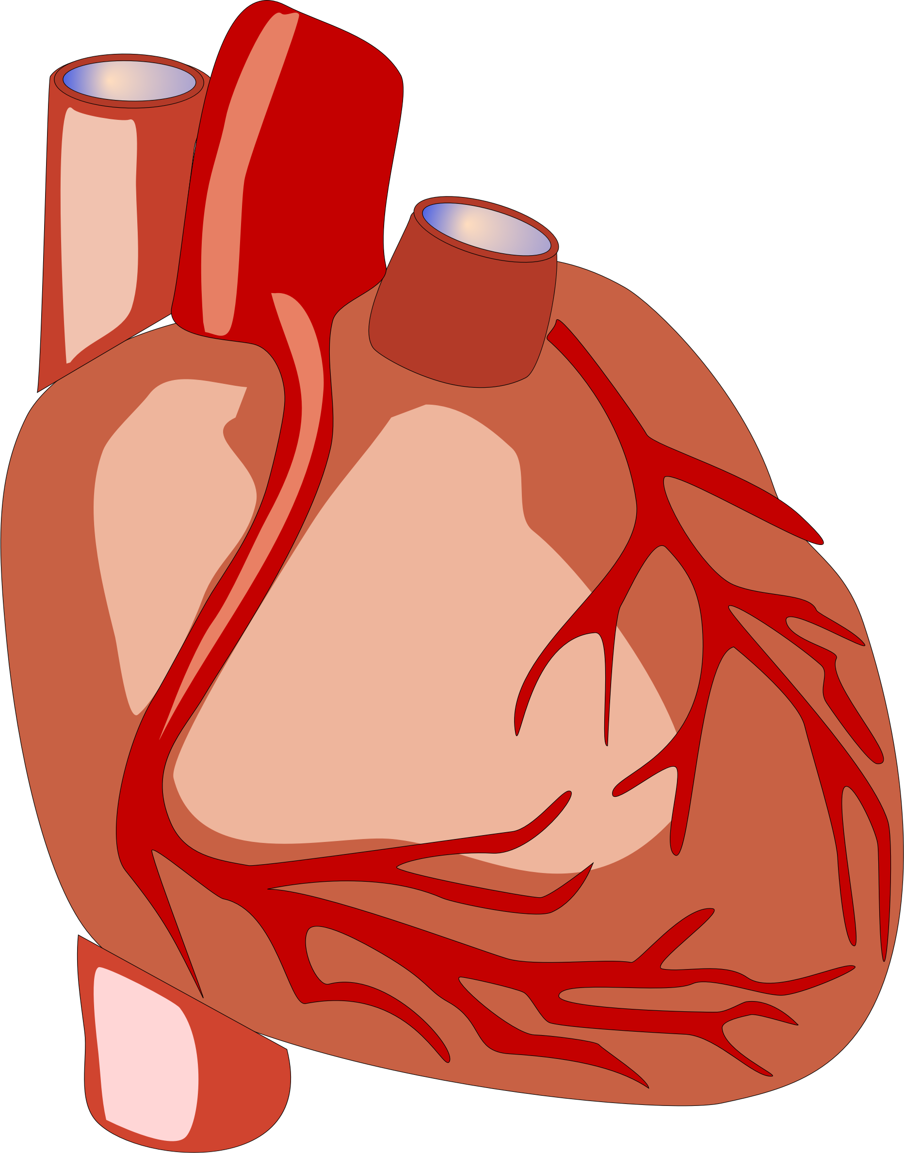 Human heart clipart drawing picture black and white Clipart - Human heart picture black and white