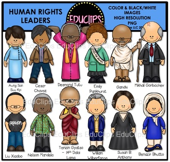 Clipart human rights clipart royalty free library Human Rights Leaders Clip Art Set {Educlips Clipart} clipart royalty free library