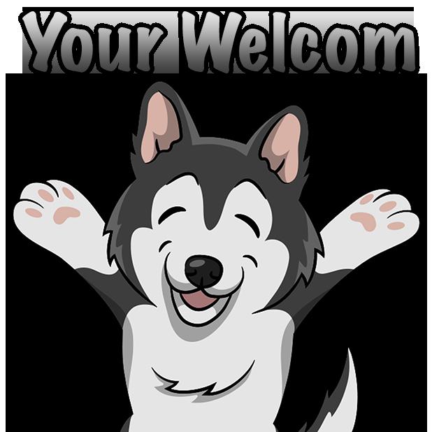 Clipart husky dog image Huskymoji - Husky Emoji & Stickers by Ashwani singla image