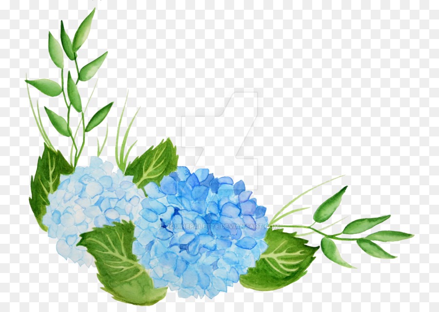 Clipart hydrangea clip royalty free Watercolor Floral Background clipart - Hydrangea, Flower, Leaf ... clip royalty free