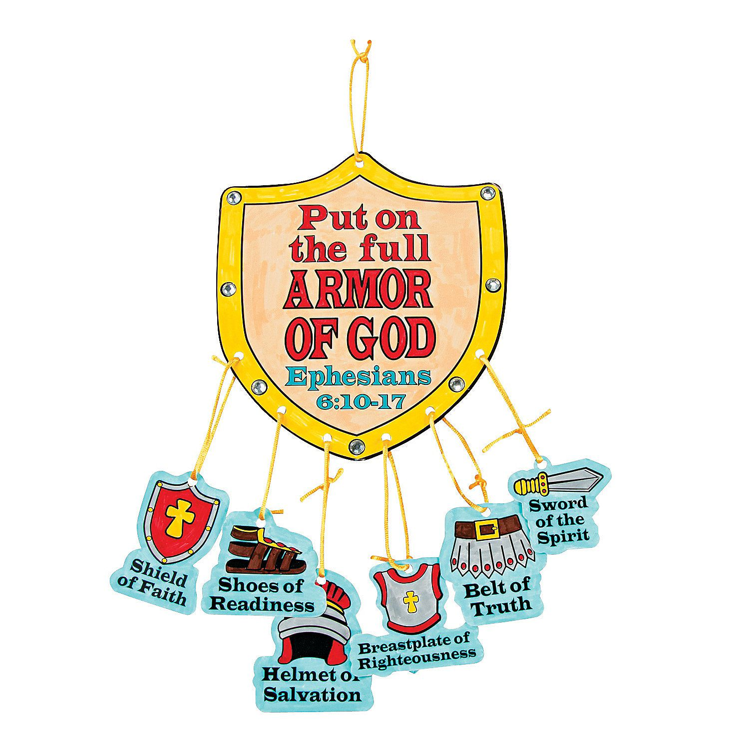 """Clipart i am your truth your righteous clipart Color Your Own """"Armor Of God"""" Mobile Craft Kit - OrientalTrading.com ... clipart"""