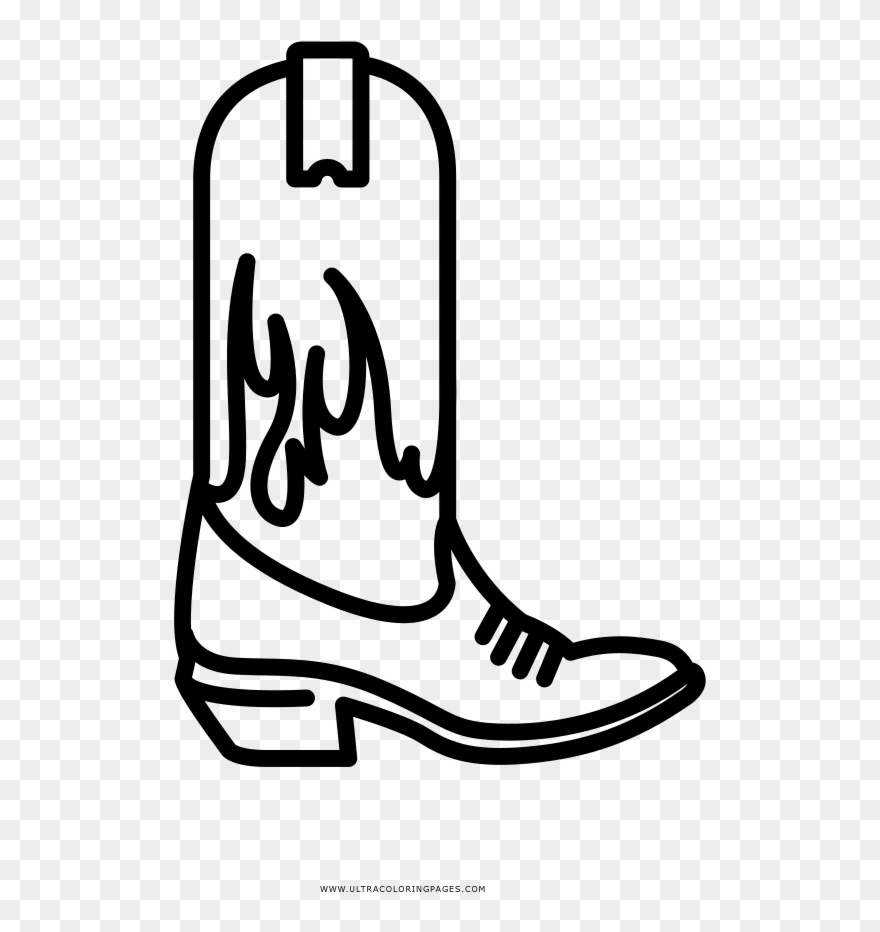 Clipart ice cream in a cowboy hat or boot picture Cowboy Boot Coloring Page Clipart (#3082259) - PinClipart picture