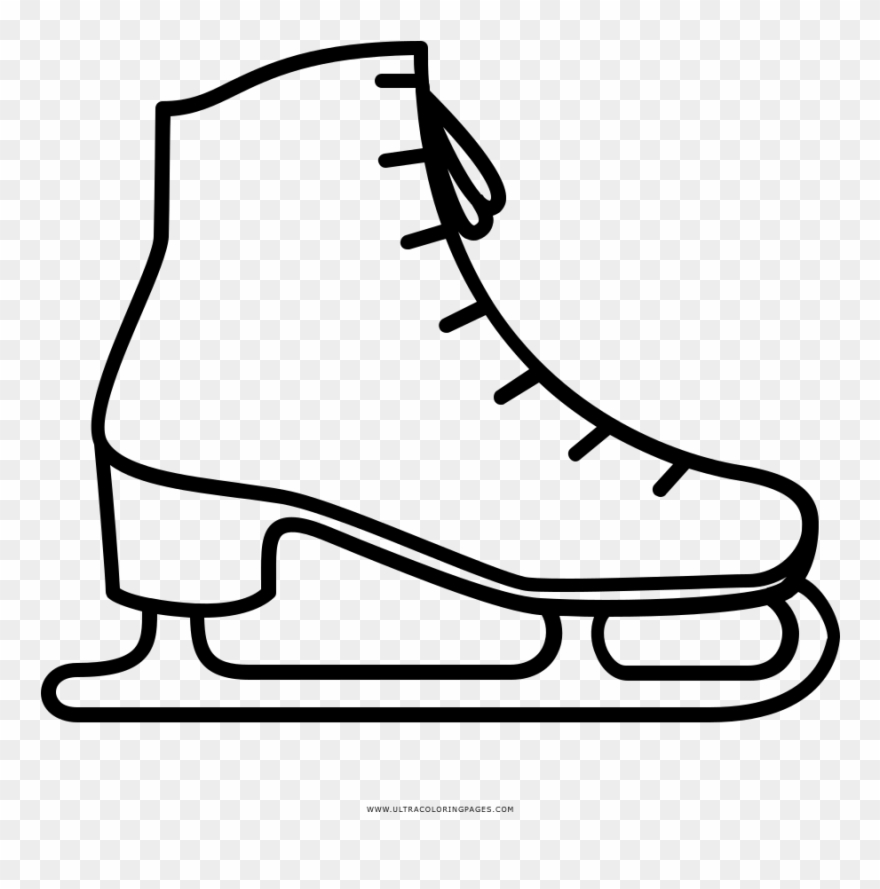 Figure skate clipart vector freeuse Ice Skating Pat N - Ice Skating Shoes Drawing Clipart (#1035905 ... vector freeuse