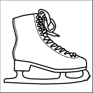 Figure skate clipart graphic free stock Clip Art: Ice Skate B&W I abcteach.com | abcteach graphic free stock