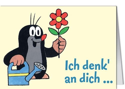Clipart ich denk an dich banner freeuse stock Mini Grußkarte - Der kleine Maulwurf -