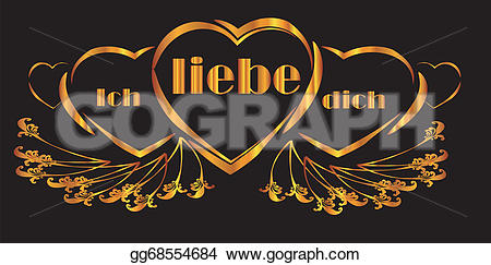 Clipart ich liebe dich clipart royalty free download Vector Illustration - Ich liebe dich heart. Stock Clip Art ... clipart royalty free download