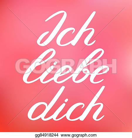 Clipart ich liebe dich banner transparent library Vector Art - Ich liebe dich. i love you in german. handwritten ... banner transparent library