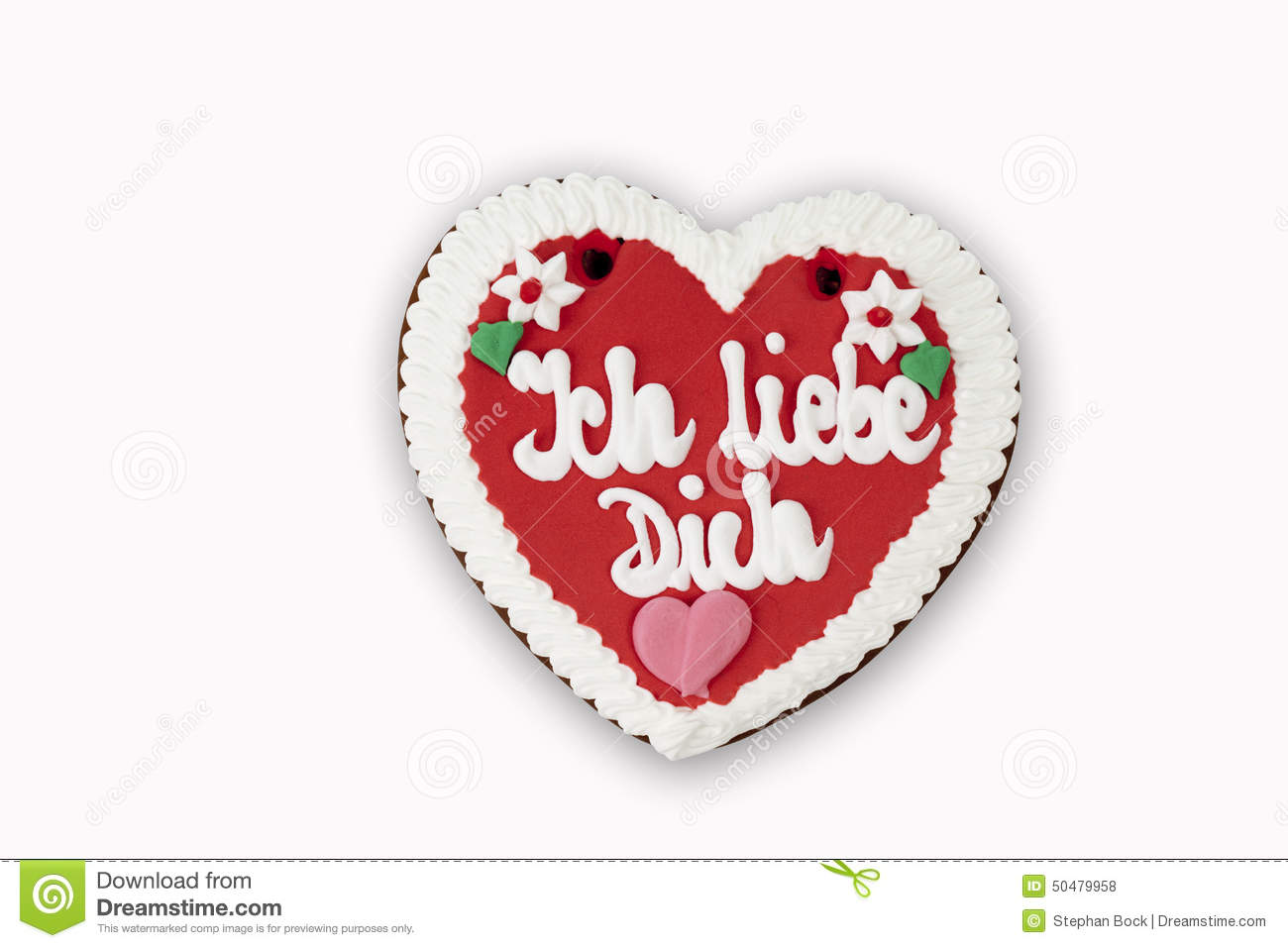Clipart ich liebe dich. Heart with poster hanging