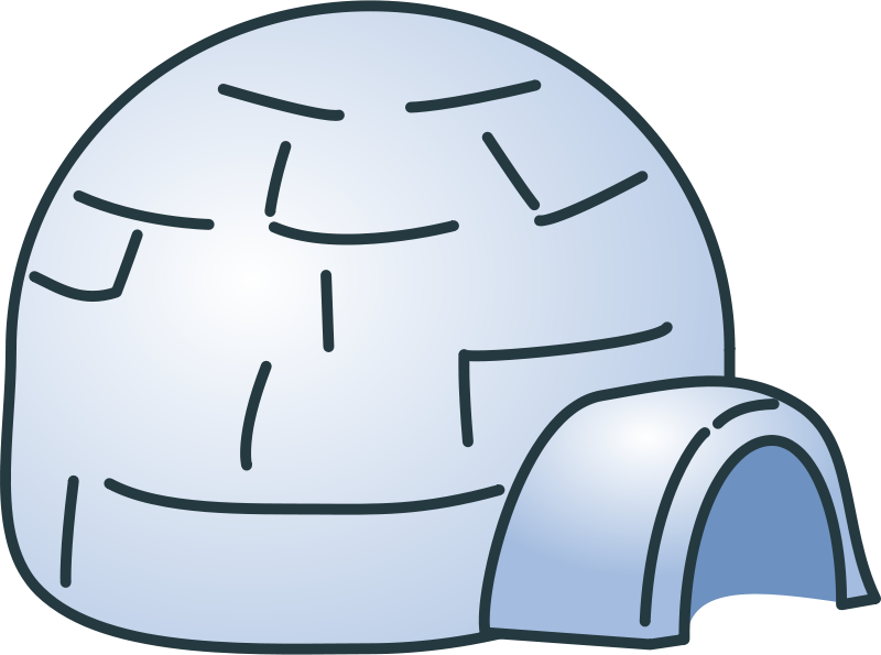 Clipart igloo png black and white library Free Clipart: Igloo | qubodup png black and white library