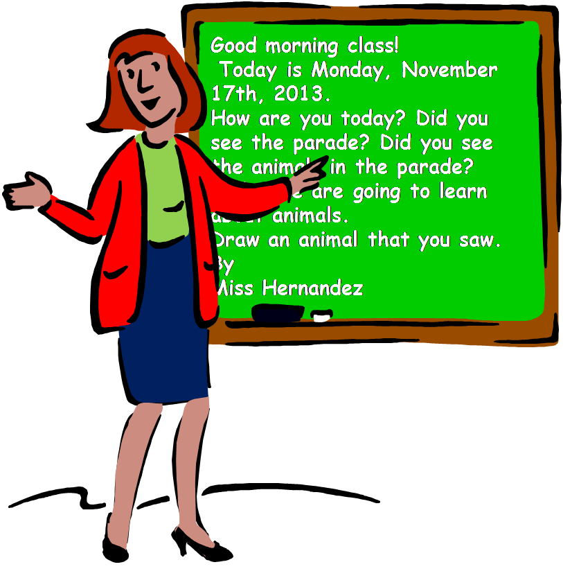Clipart image class morning message royalty free download A Teacher's Idea: Benefits of Morning Messages royalty free download