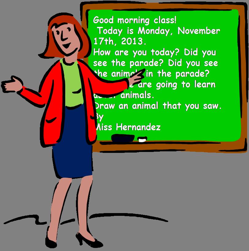A teacher s idea. Clipart image class morning message