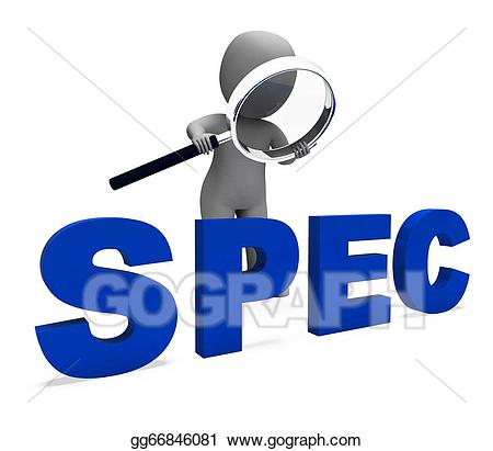 Specification clipart image free Stock Illustration - Spec character showing specifications details ... image free