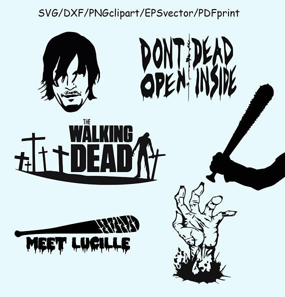 The walking dead the final season clipart png library stock Walking Dead SVG DXF Clipart Vector Walking Dead Logo Lucille ... png library stock