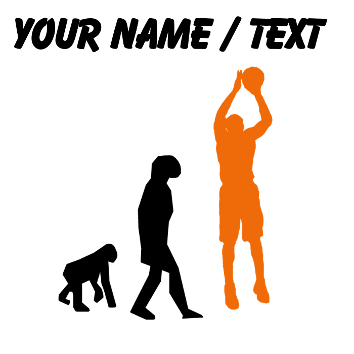 Clipart image of basketball jumpshot picture library download Custom Basketball Jump Shot Evolution (Orange) Mou by ... picture library download