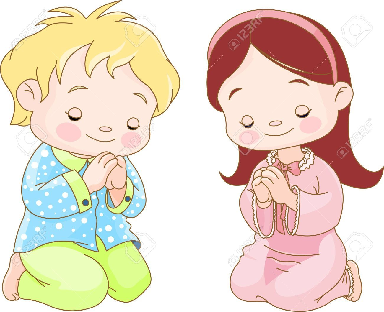 Clipart image of boy and girl praying image library download Boy and girl praying clipart » Clipart Portal image library download