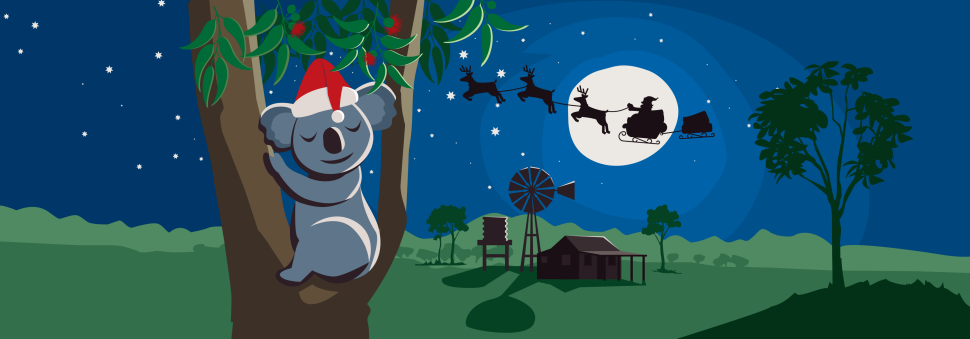 Clipart image of card delivery to mailbox picture Santa mail - Australia Post picture