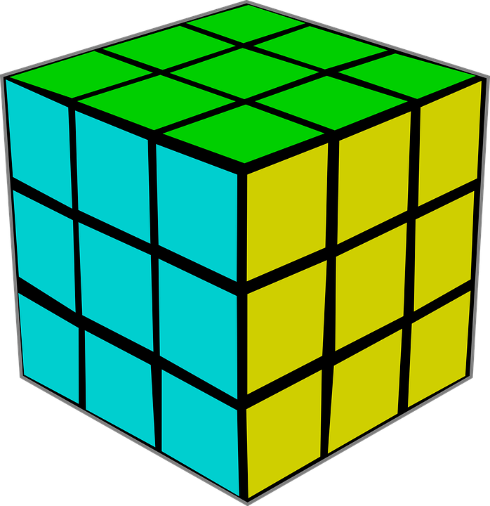 Clipart image of cat playing with rubix cube vector library library Cube clipart green cube - Graphics - Illustrations - Free Download ... vector library library