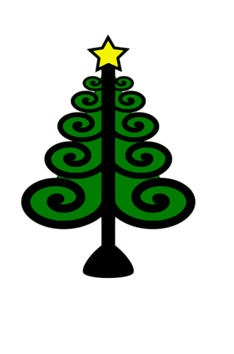 Clipart image of christmas tree graphic black and white library Christmas Tree Recycling - South Annville Township graphic black and white library