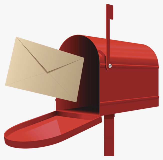Clipart image of envelope delivery to mailbox clipart transparent Download Free png Open Red Mailbox, Delivery Letter, Red Alert Box ... clipart transparent