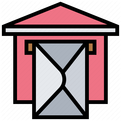 Clipart image of envelope delivery to mailbox picture royalty free stock \'Postal Elements\' by Eucalyp Studio picture royalty free stock