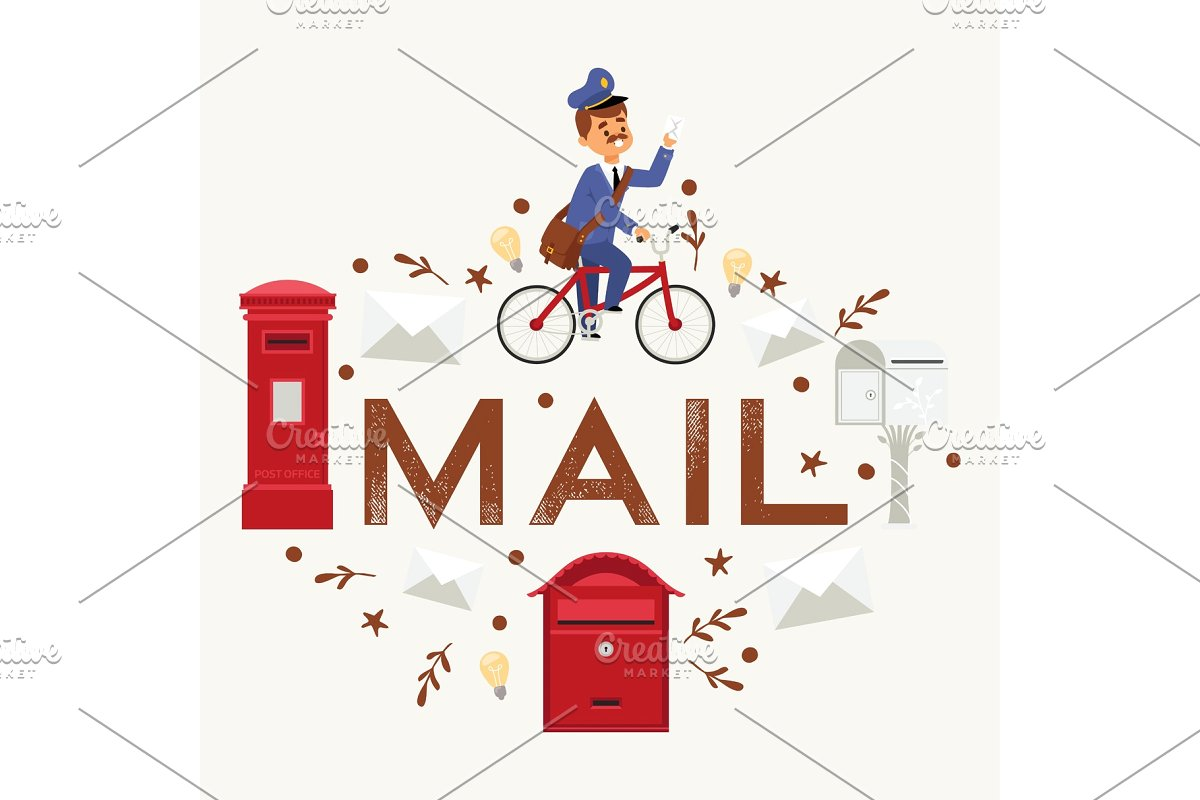 Clipart image of envelope delivery to mailbox png black and white stock Mail box envelope postman png black and white stock