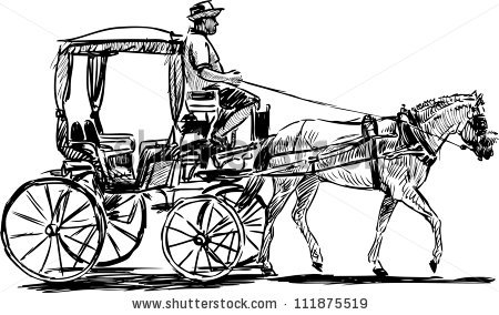 Clipart image of horse and buggy and car svg black and white library 72+ Horse And Buggy Clipart | ClipartLook svg black and white library
