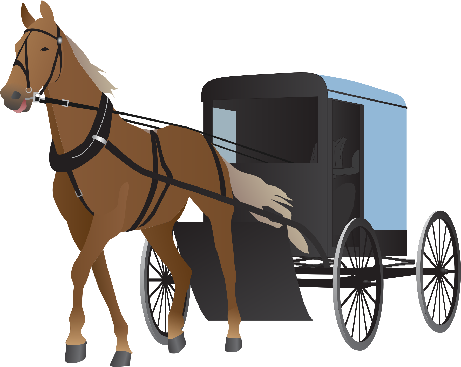 Clipart image of horse and buggy and car image black and white Horse Carriage PNG HD Transparent Horse Carriage HD.PNG Images ... image black and white