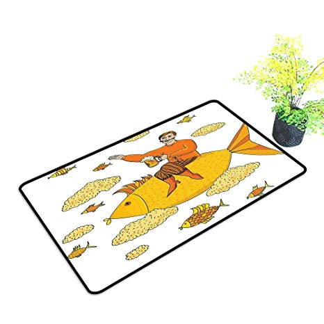 Clipart image of man holding a glass of water svg royalty free stock Amazon.com: Extra Thick Door Mat Man Holding Big Glass Beer Fish ... svg royalty free stock