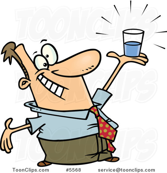 Clipart image of man holding a glass of water free download Cartoon Business Man Holding a Glass Half Full #5568 by Ron Leishman free download