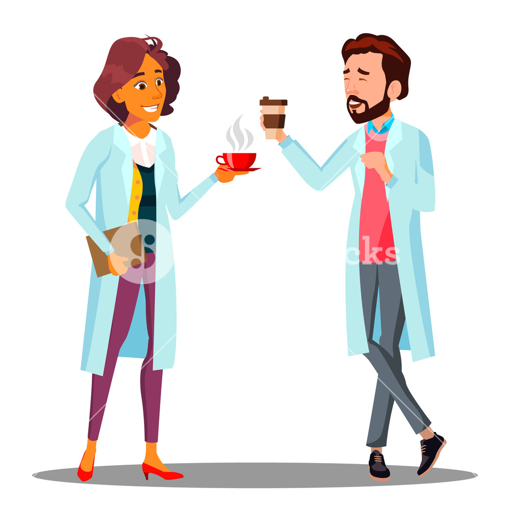 Clipart image of man holding a glass of water png transparent library Doctor Man, Woman Holding A Glass Of Coffee In Hand, Coffee Break ... png transparent library