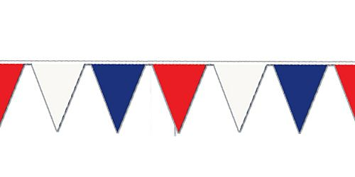 Clipart image of red white and blue bunting picture black and white library Red, White & Blue Outdoor Bunting - 36m picture black and white library