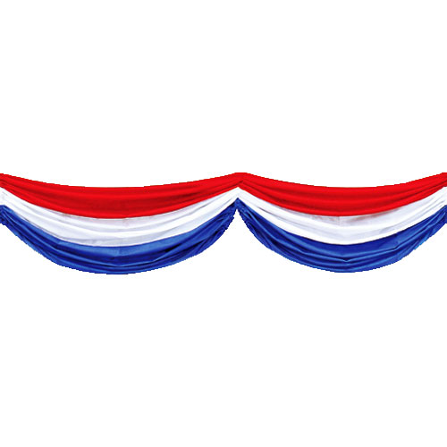 Clipart image of red white and blue bunting picture freeuse library Red, White, & Blue Fabric Bunting | 4th of July | Patriotic Party  Decorations picture freeuse library