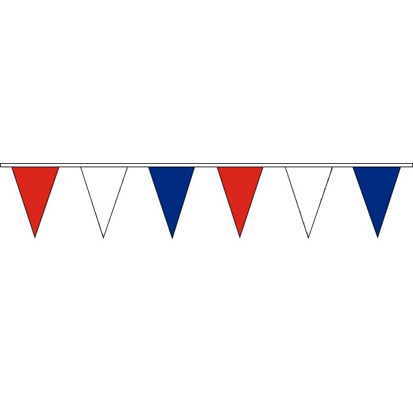 Clipart image of red white and blue bunting banner download Pennant Bunting Red,White & Blue 100m Roll 200mm x 300mm (Vinyl) banner download