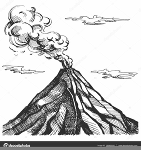 Volcano clipart b w free Volcano Clipart Black And White | Free Images at Clker.com - vector ... free