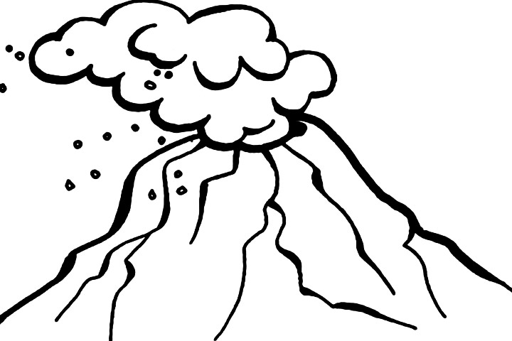 Volcano clipart b w freeuse download Volcano clipart black and white 3 » Clipart Station freeuse download