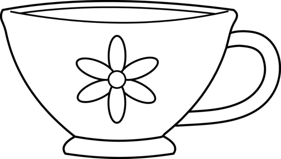 Teacup and a book clipart png Teacup clipart black and white free clipart | Wonderland Homecoming ... png