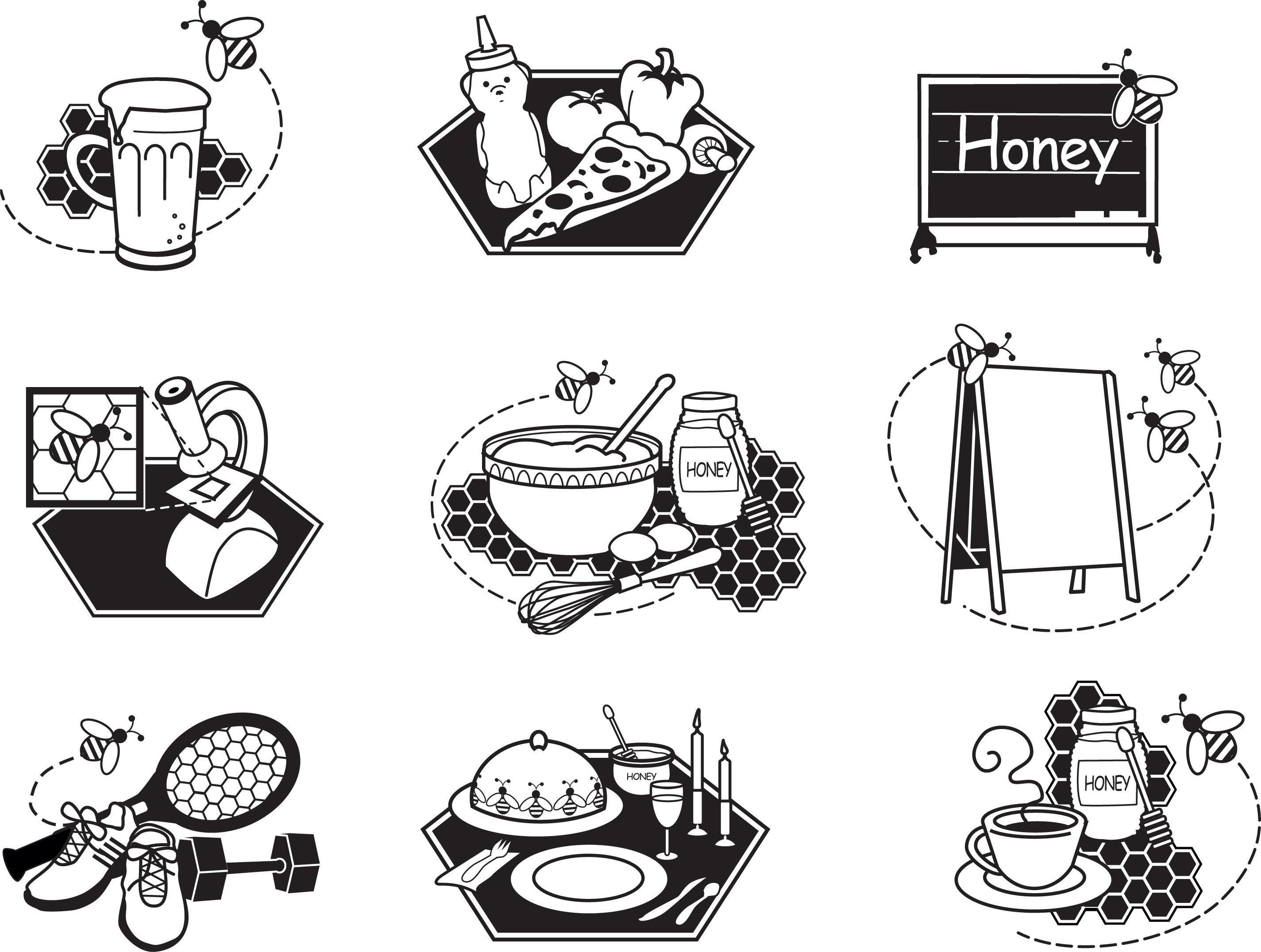 Clipart images download. Clip art national honey