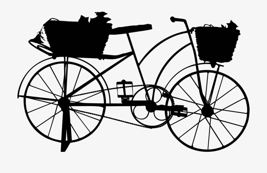 Clipart images drive over hills black and white image freeuse Bike Cycling Free Graphic On Pixabay Drive - Old Fashioned Bike ... image freeuse
