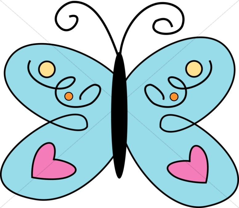 Butterfly graphics sharefaith blue. Clipart images for april butterflies