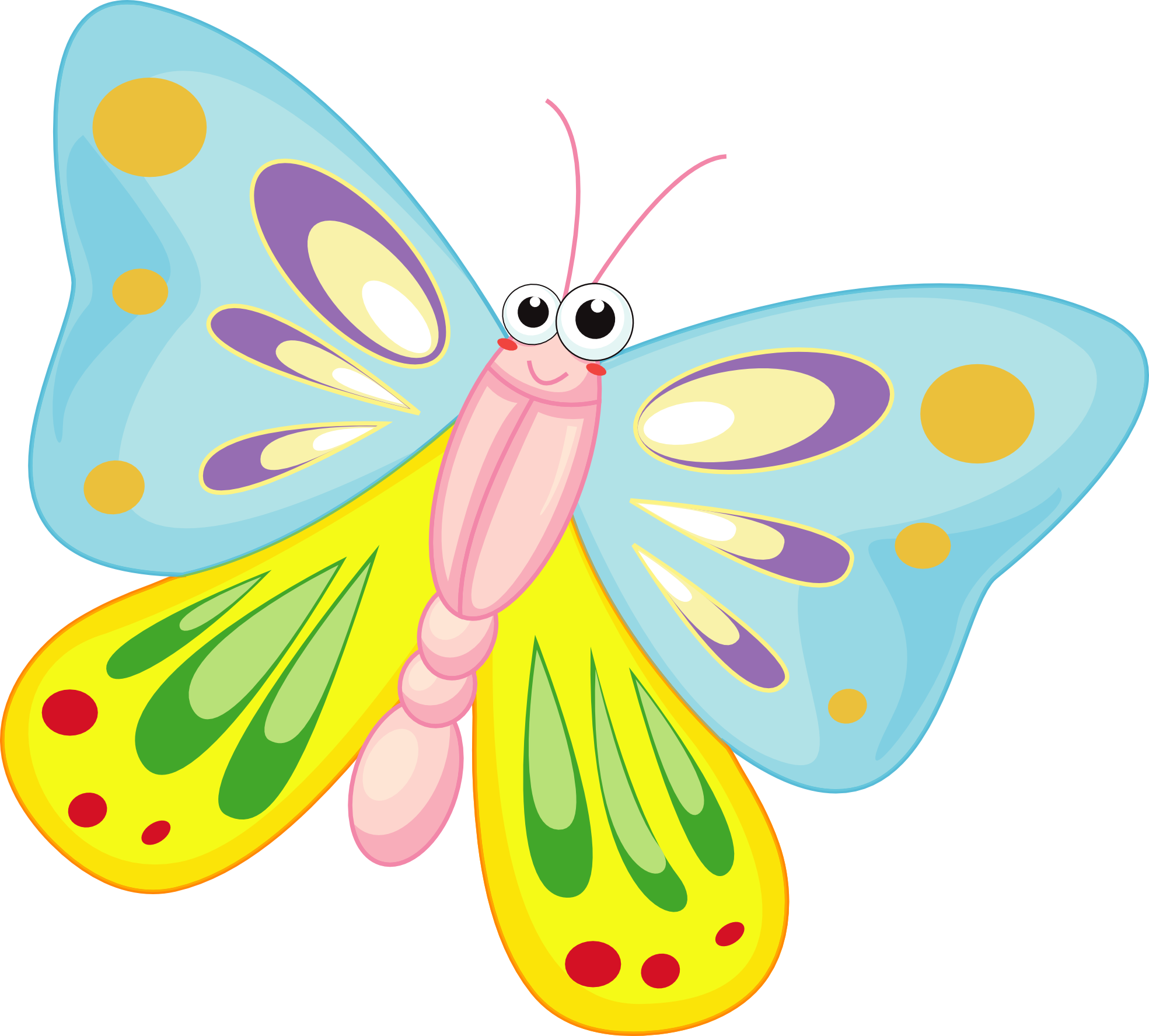 Clipart images for april butterflies. Cartoon pictures of butterfly