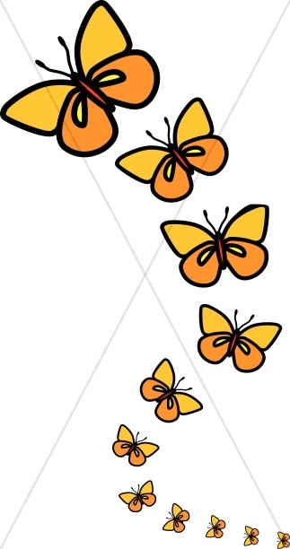 Butterfly graphics sharefaith line. Clipart images for april butterflies