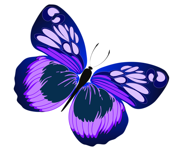Cross with butterfly clipart graphic transparent library Blue and Purple Butterfly PNG Clipart | Motýle | Pinterest ... graphic transparent library