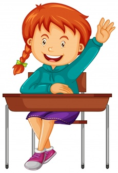 Clipart images of a boy worried about homework banner royalty free library Girl student sit on the school desk Vector | Free Download banner royalty free library