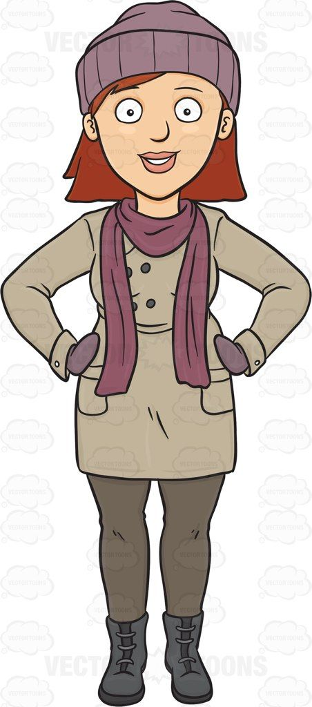 Grey outfit clipart vector transparent download karen\'s in winter clothes | this poor woman | Winter outfits, Women ... vector transparent download