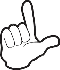 Clipart images of a hand making loser sign clip black and white Top 10 Common Hand Symbols | My Viewpoint clip black and white