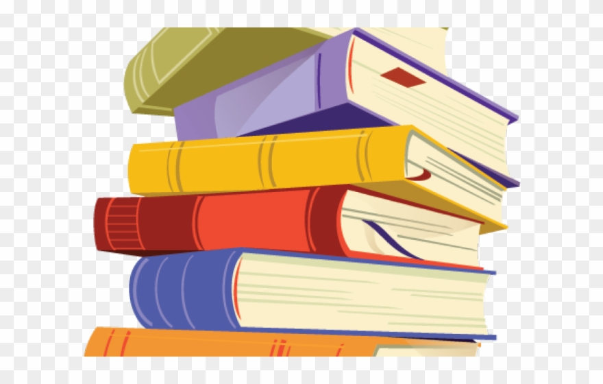 Clipart images of a pile of books vector royalty free library Book Clipart Stacked - Books Clipart Transparent Background - Png ... vector royalty free library