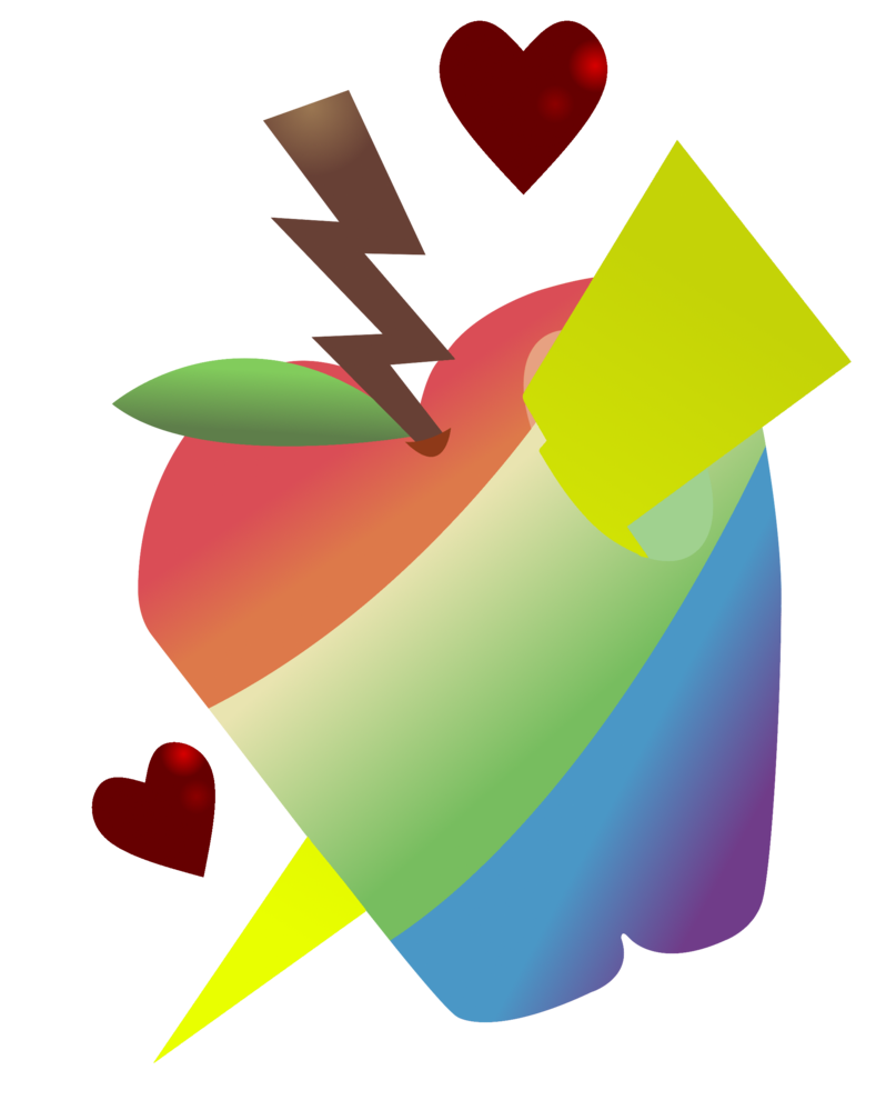 Clipart images of a sliced apple and its core svg transparent download C) Apple Slice's Cutie Mark 5/6 by ShootingStarYT on DeviantArt svg transparent download