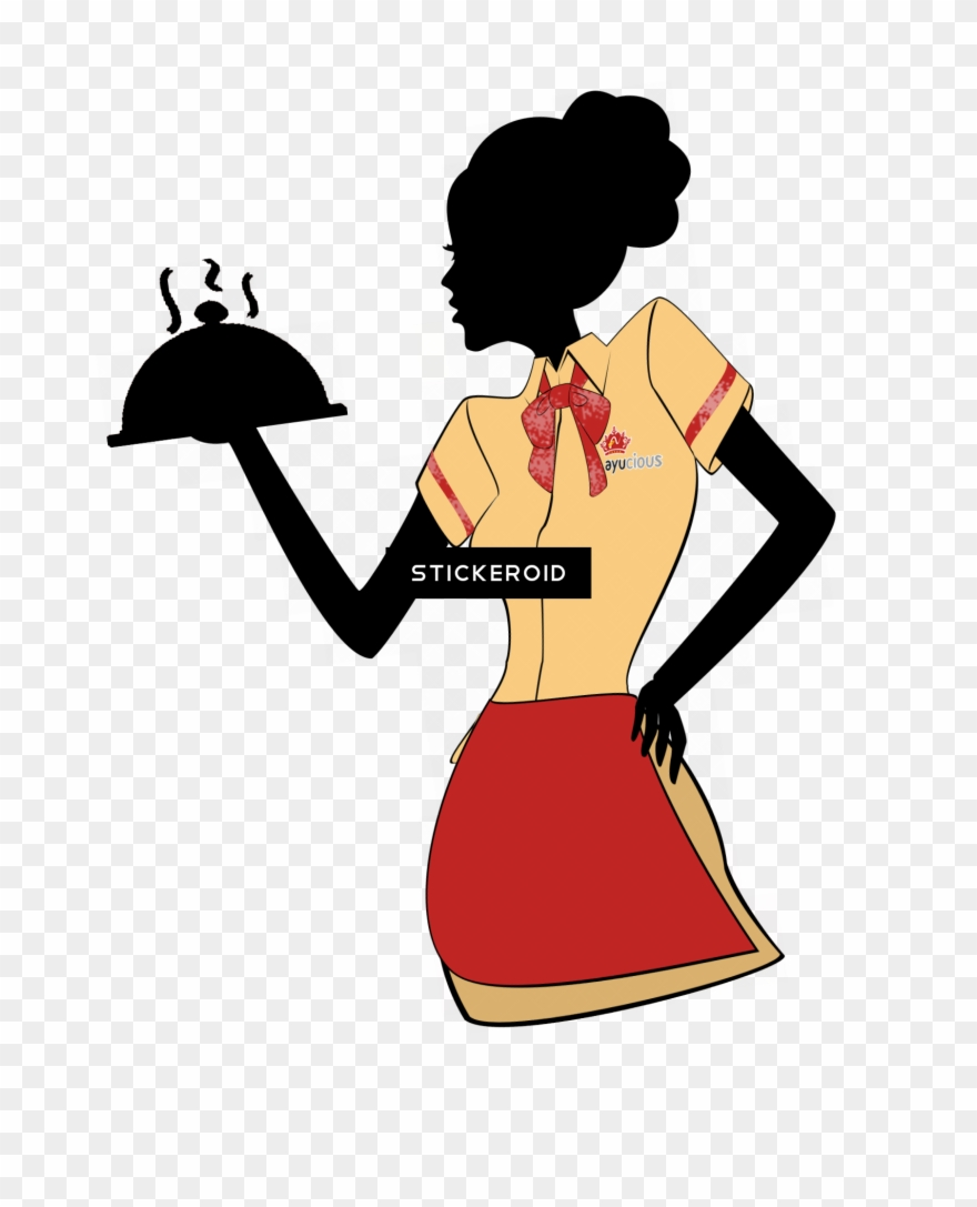 Waiters and waitresses clipart