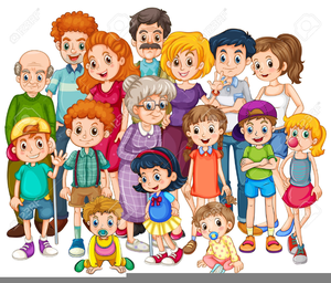 Free clipart of a group of people or families image black and white Free Cliparts Family Members | Free Images at Clker.com - vector ... image black and white